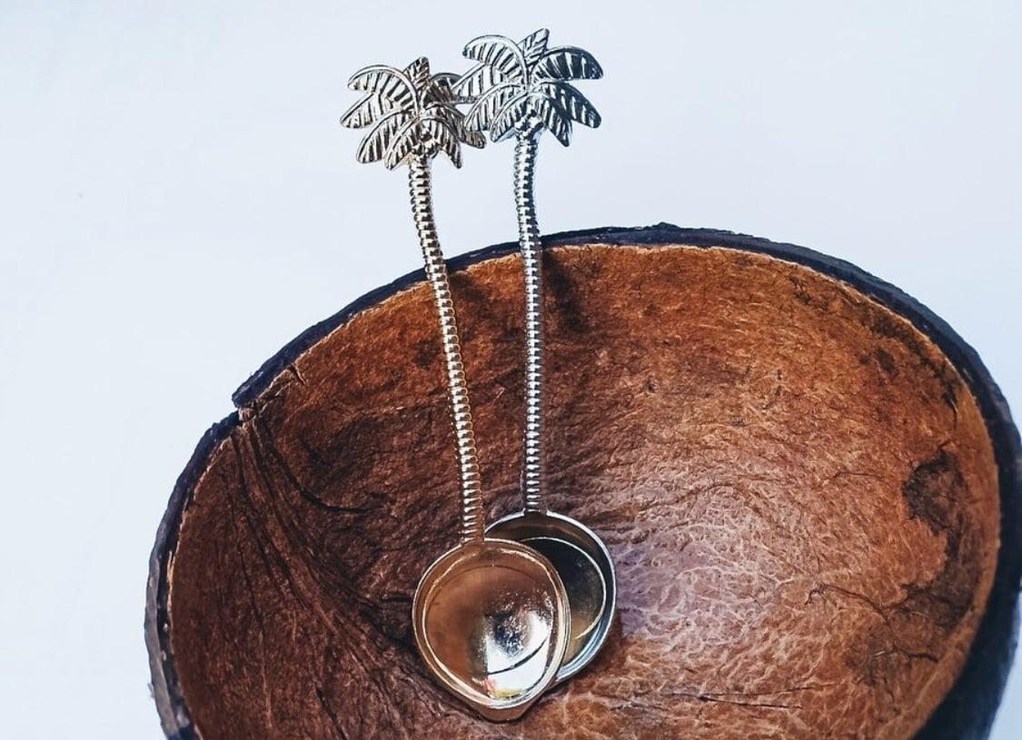 Cuillère à café palmier tropical