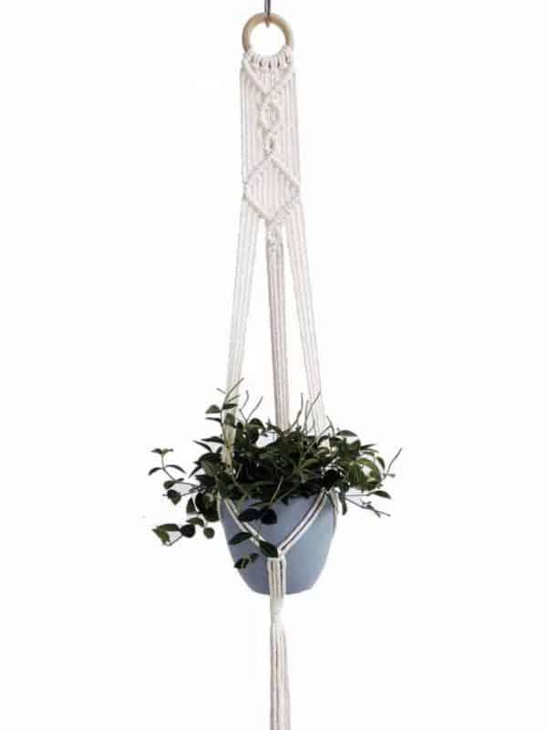 Suspension macramé corde pots de fleurs