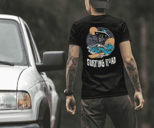 T-shirt coton bio eco-responsable surf surfing road