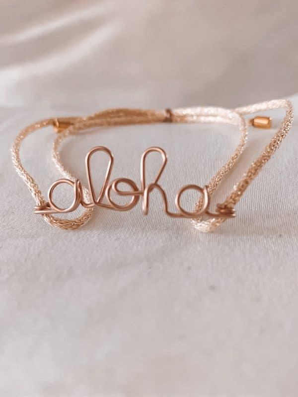 Bracelet aloha gold filled 12 carats