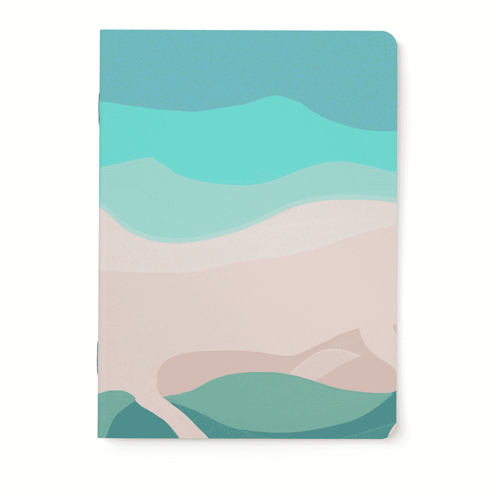 Notebook plage page blanche ou lignee