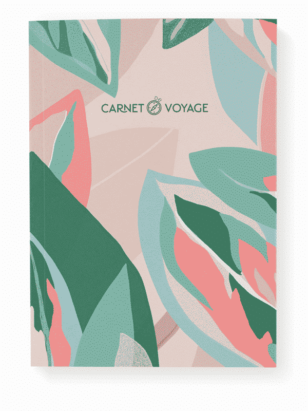 Cahier de voyage récit jungle rose