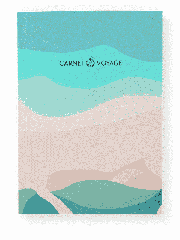 Carnet de voyage van surf trip backpack