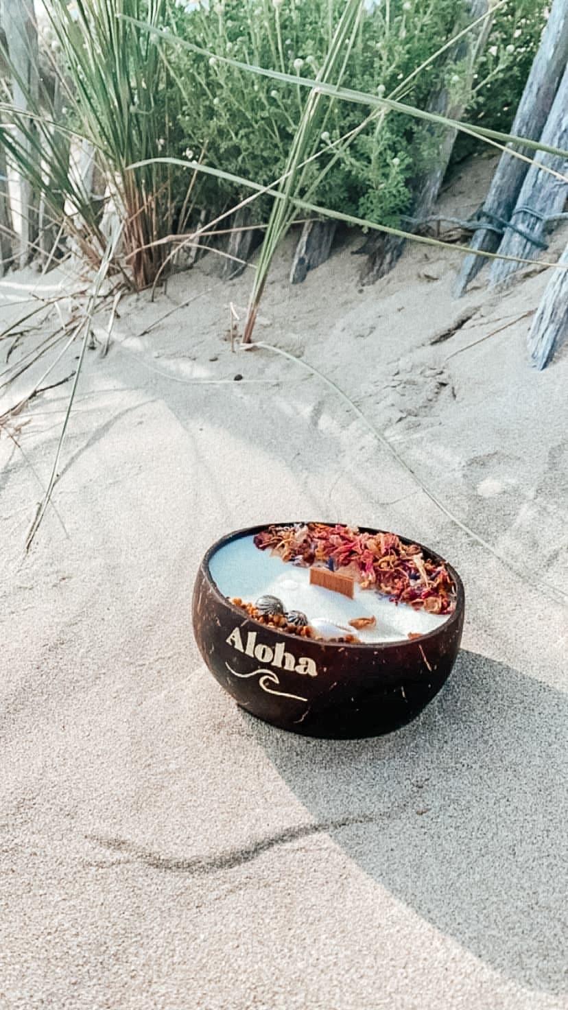 bougie surf cadeau aloha