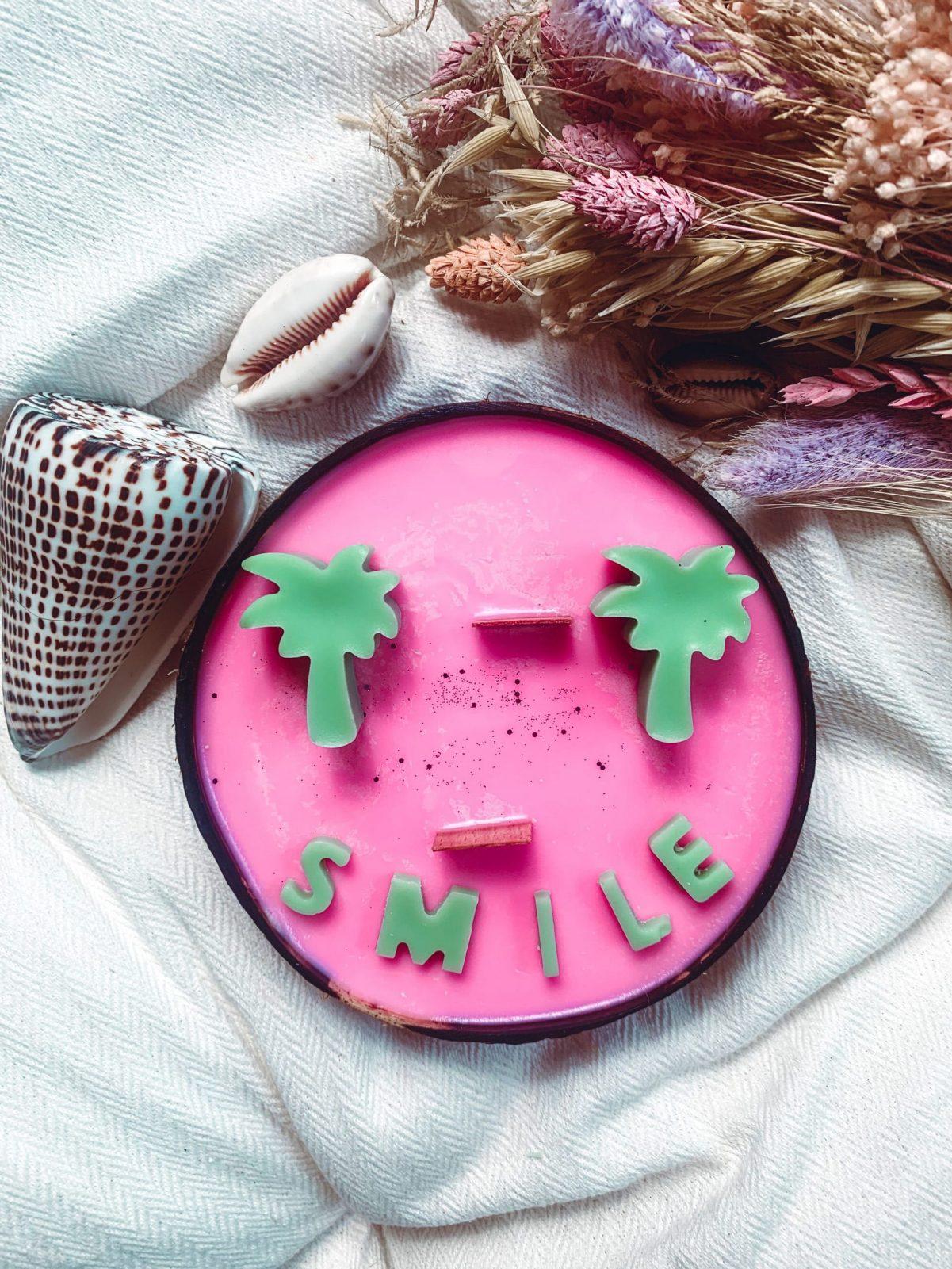 bougie smile cire vegetale naturelle
