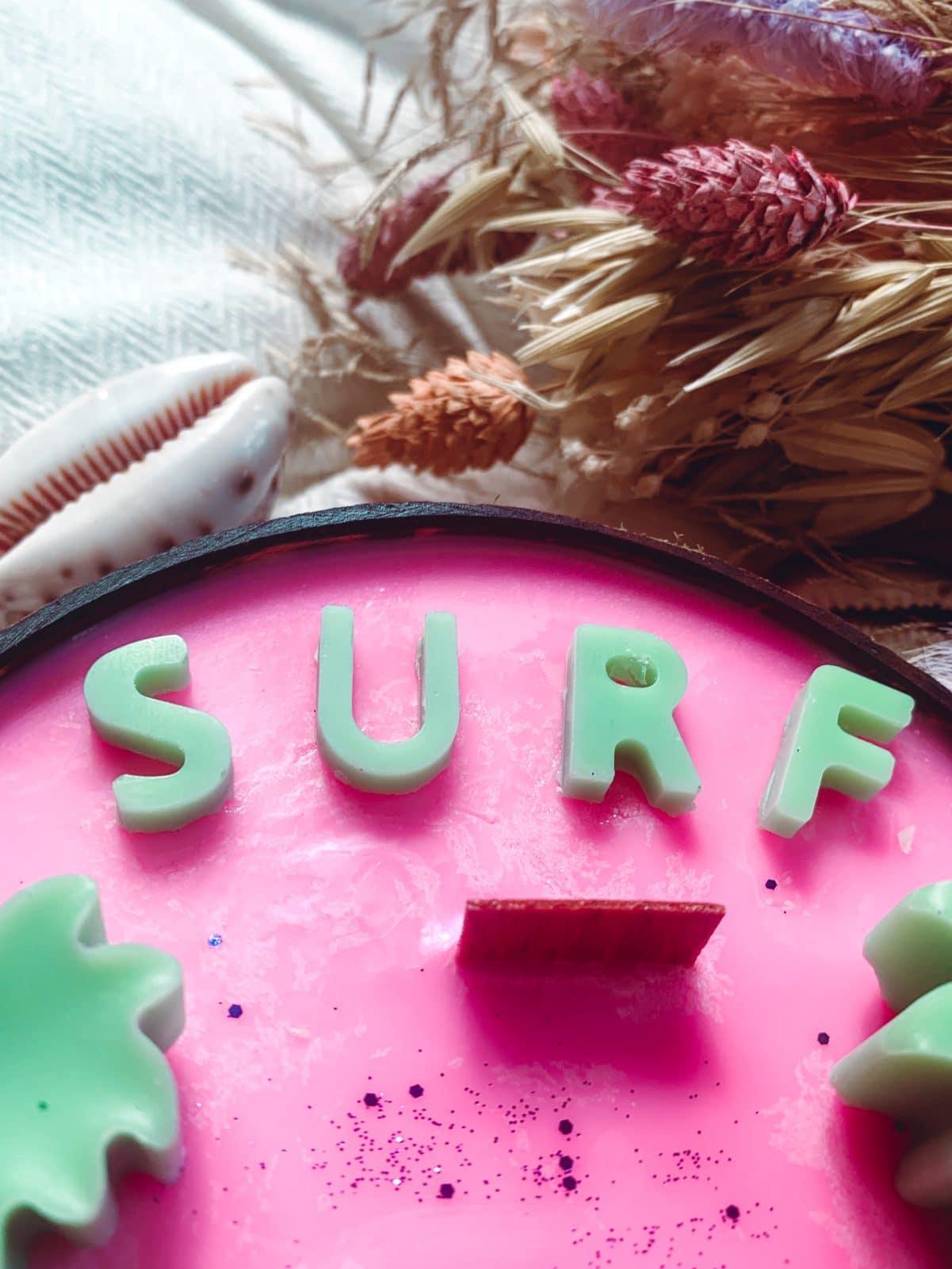 bougie vegetale surf noix de coco