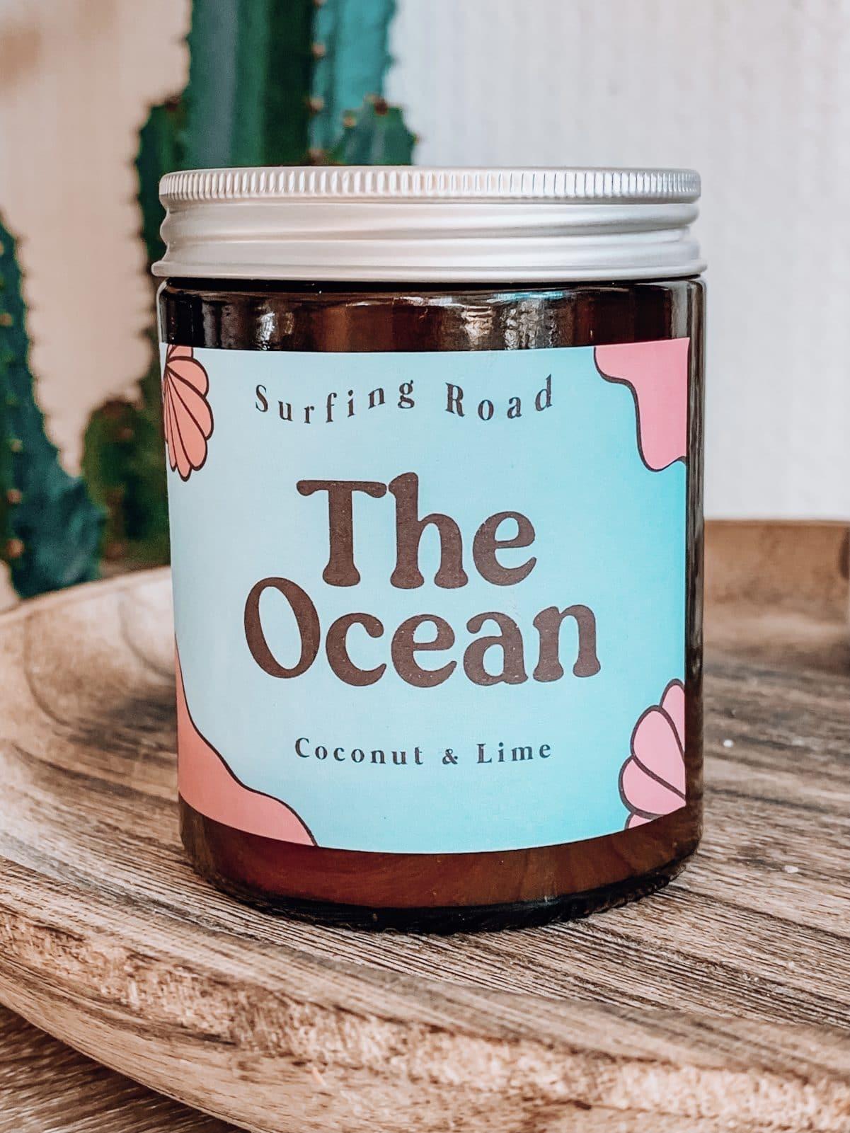 bougie vegetale the ocean ananas noix de coco surfeur surf